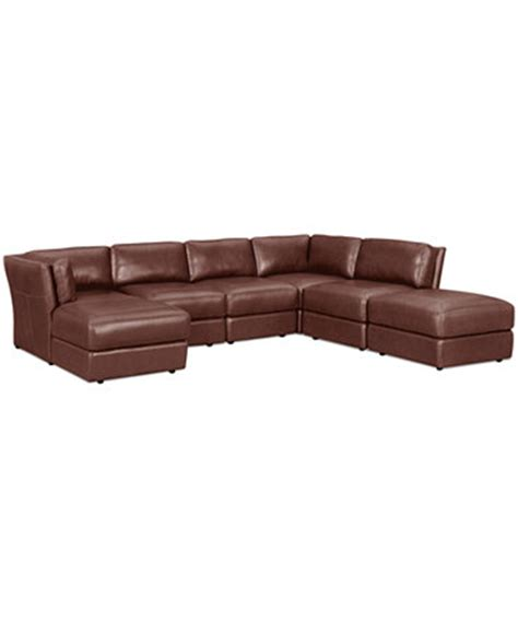 armless leather sectional sofa ramiro leather modular sectional sofa 6 square
