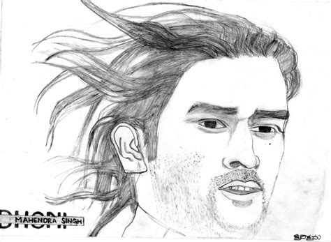 M S Dhoni Sketches by Sketch Of Cricketer Mahendra Dhoni Desipainters