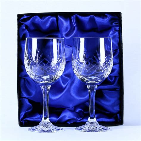 lead crystal barware 24 lead crystal wine glasses engrave a gift