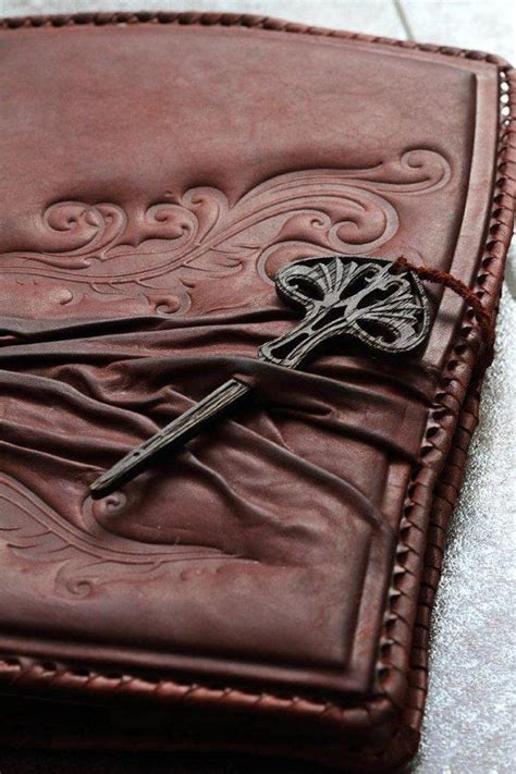 Handmade Leather Book Covers - handmade leather notebook book cover diary key of
