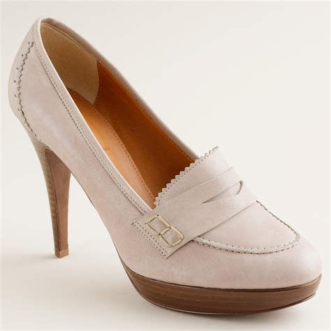 heeled loafers biella high heel loafers j crew