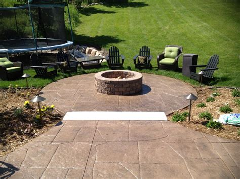 Pit On Patio by Concrete Outdoor Pit Pit Design Ideas