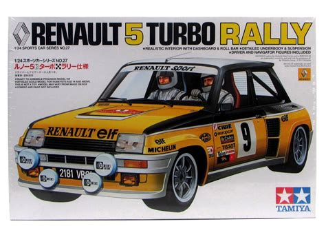 renault turbo rally renault 5 turbo rally tamiya 24027 1 24 sports car