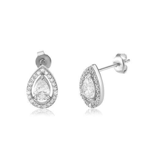 ingenious silver teardrop stud earring ingenious from