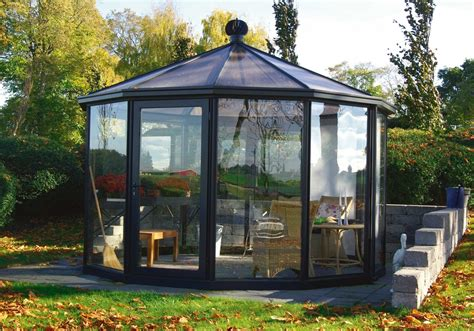 Backyard Enclosed Gazebo Add Drama To Your Outdoor With Stained Glass Gazebo