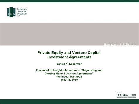 venture capital investment template equity and venture capital investment agreements