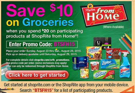 shoprite shop from home deals better than free carnation