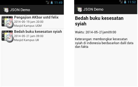 tutorial android json php mysql candralab