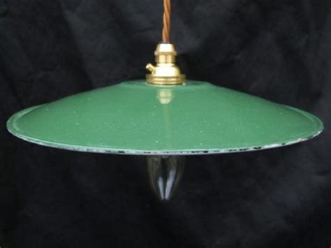 edwardian enamel green ceiling light 438425