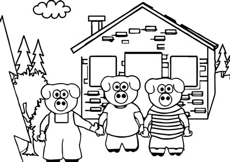 printable coloring pages three little pigs keys to literacy three little pigs coloring page