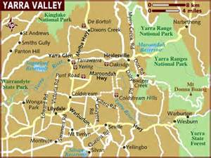 valley map map of yarra valley