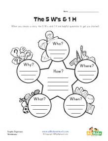 What when where why and how graphic organizer all kids network