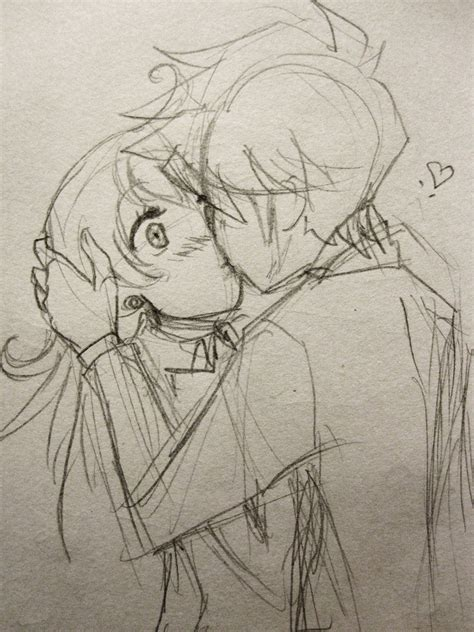 anime couples kissing sketches kissing sketch by karolinamixiao on deviantart
