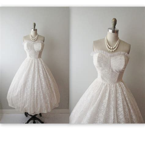 Vintage 50 S Wedding Dresses by 50s Wedding Dress Vintage 1950s Strapless By