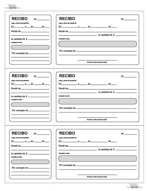 recibos de pago para imprimir formato recibo de dinero httpparaimprimirorgrecibo con