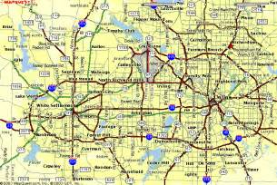 awesome dallas fort worth map travelquaz