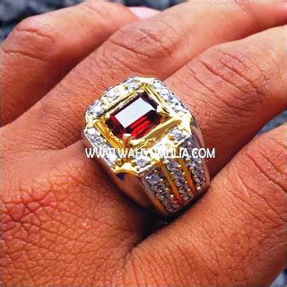 Murah Blue Safir Ring Mewah Cutting Kotak batu cincin permata garnet sold permatasatu