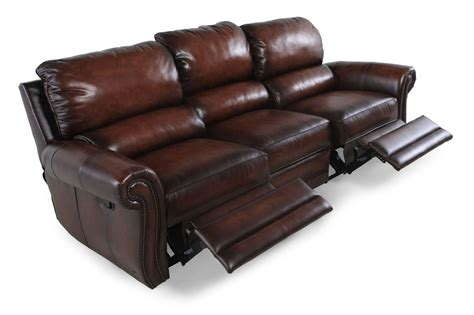 Wall Saver Reclining Sofa Leather Wall Saver Reclining Sofa In Brown Mathis Brothers Furniture