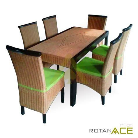 Meja Makan Ace Hardware jual milan meja makan rotan set 6 seats harga lebih murah