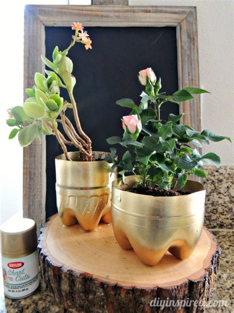 Things To Use As Planters by Recycled Plastic Bottle Plant Pots Diy Inspired