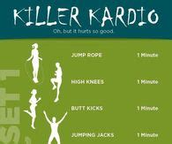 image gallery killer cardio workout