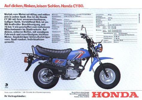 Mini Motorrad Zulassung by Honda Cy 80 Gab Es Anfang Der 80er Jahre Leider Nur In