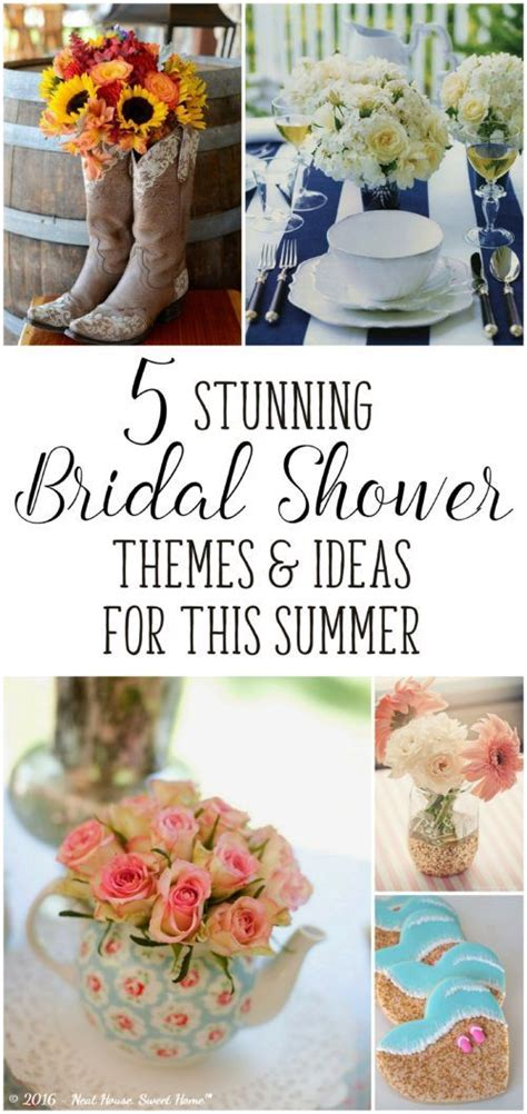 bridal shower themes ideas summer 5 stunning bridal shower ideas for this summer beautiful