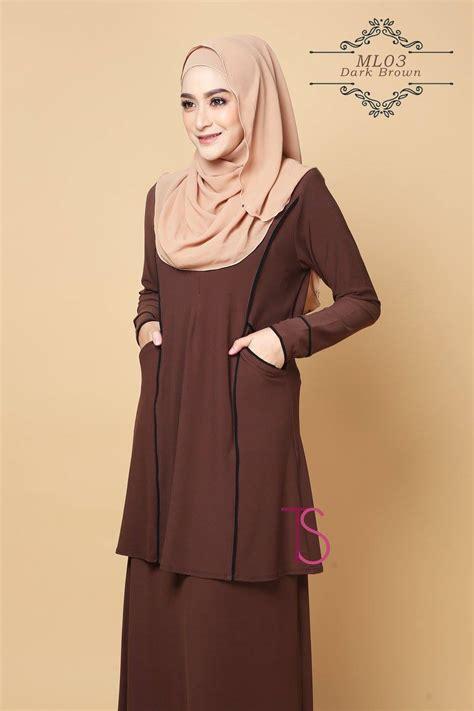 Baju Kurung Kelabu Dengan Tudung busana muslimah part 5
