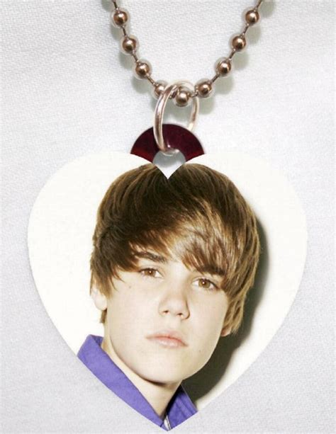 justin bieber 7 photo charm necklace awesome ebay