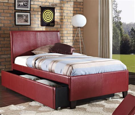 upholstered trundle bed new york red full upholstered trundle bed 939 93 94