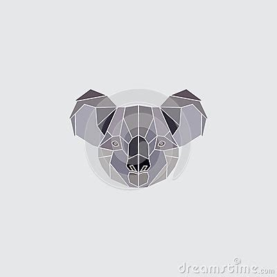 koala head logo stock vector image