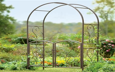 Garden Arbor With Gate Wrought Iron Herb Garden Layout Deck Herb Garden Herb Garden Planter