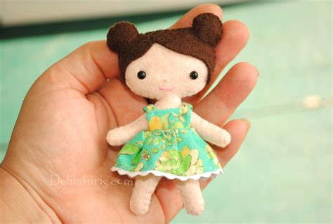 free pattern felt doll tiny doll sewing pattern anna delilah iris