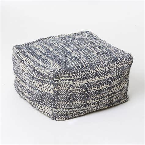 floor pillows and poufs denim pouf contemporary floor pillows and poufs by