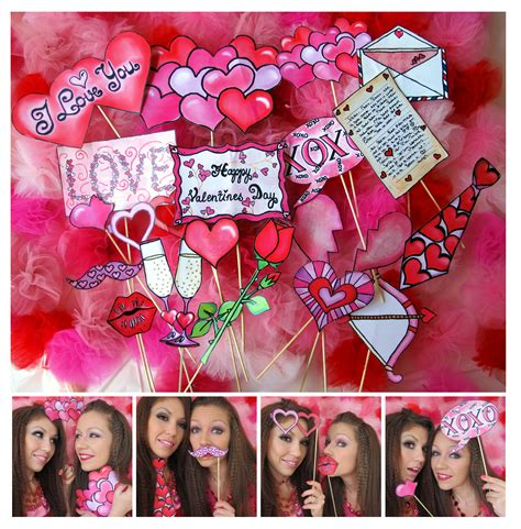 valentines photo booth our set of valentine s day photo booth props are