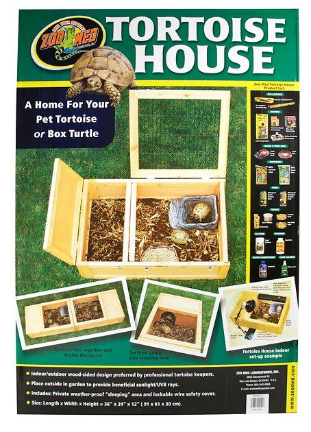 zoo med wood tortoise house chewy