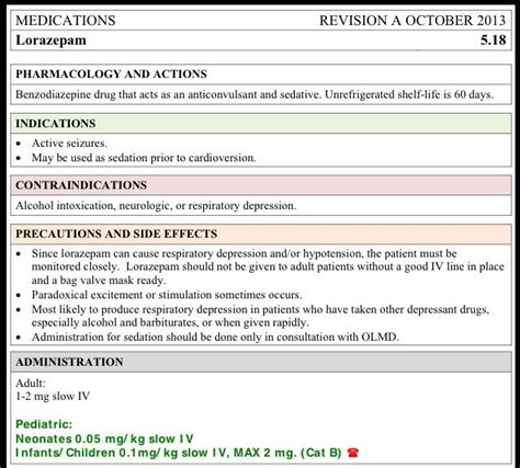 medication card template for nursing students lorazepam ativan card nursing cards