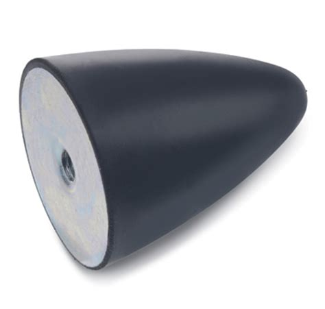 Metric Threaded Rubber Bumpers by J W Winco Offers Conical Vibration Isolation Mounts