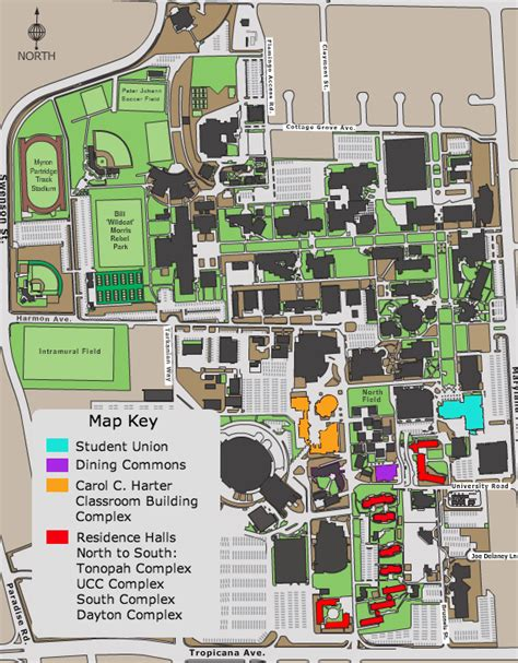 unlv map location student technology conference