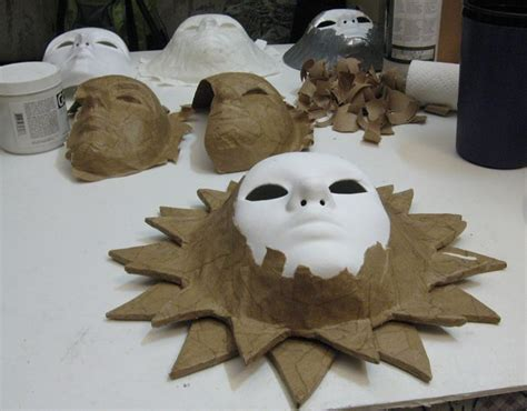 How To Make A Paper Mache Sun - best 25 mask ideas on paper mask
