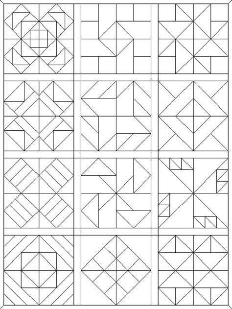 coloring pages quilt patterns quilt square colouring pages
