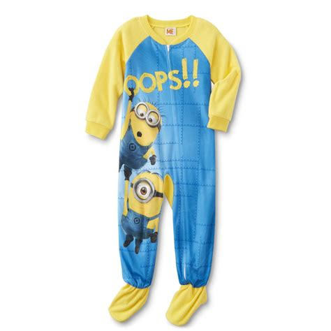 Pajamas Minion Pp illumination entertainment minions toddler boy s fleece