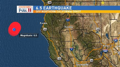 earthquake northern california 6 5 magnitude earthquake hits off the coast of northern