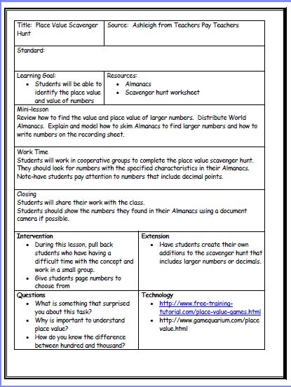 common aligned lesson plan template free common lesson plan template modern resume