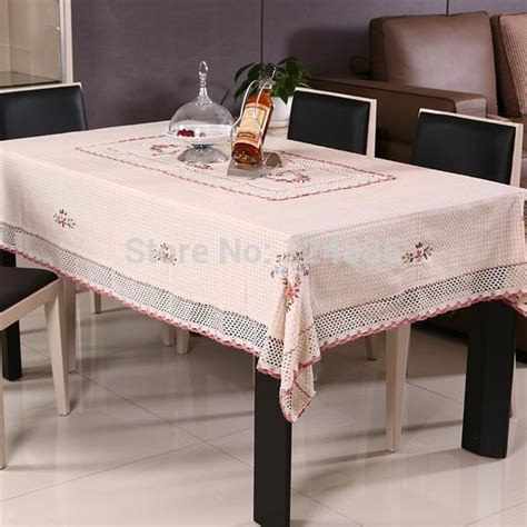 Kitchen Table Cloth Tablecloth Lace Table Cloth Knitted Vintage Dining Table Cover Knitting Hollow Out Banquet