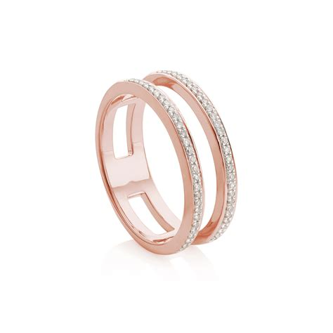 Band Ring by Lyst Vinader Band Ring In Pink
