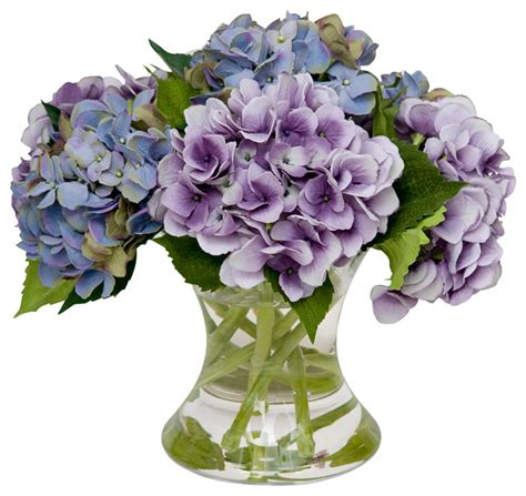 Floral Interiors Artificial Flowers And Trees by Mixed Hydrangea Traditional Artificial Flowers Plants