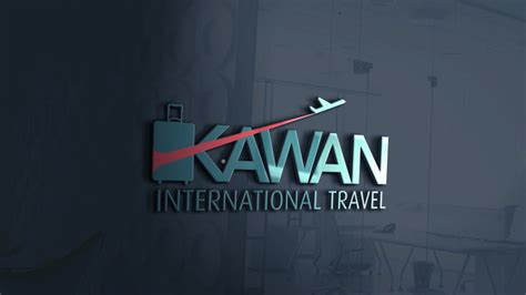 glass window logo mockup kawan international travel