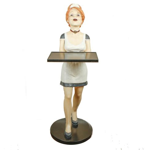 home decor holding company home decor holding company statue of maid holding a tray
