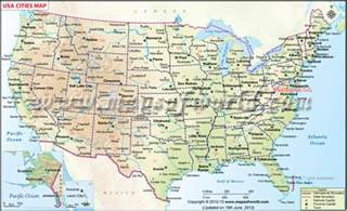 united state map with cities map of usa with cities and towns my